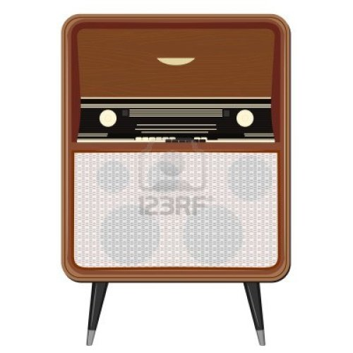 12021528-vector-illustration-of-an-old-radio-on-the-legs